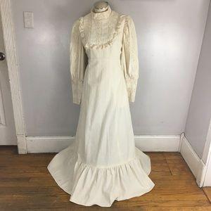 Praire Victorian Dress High Collar Puff Sleeve 8